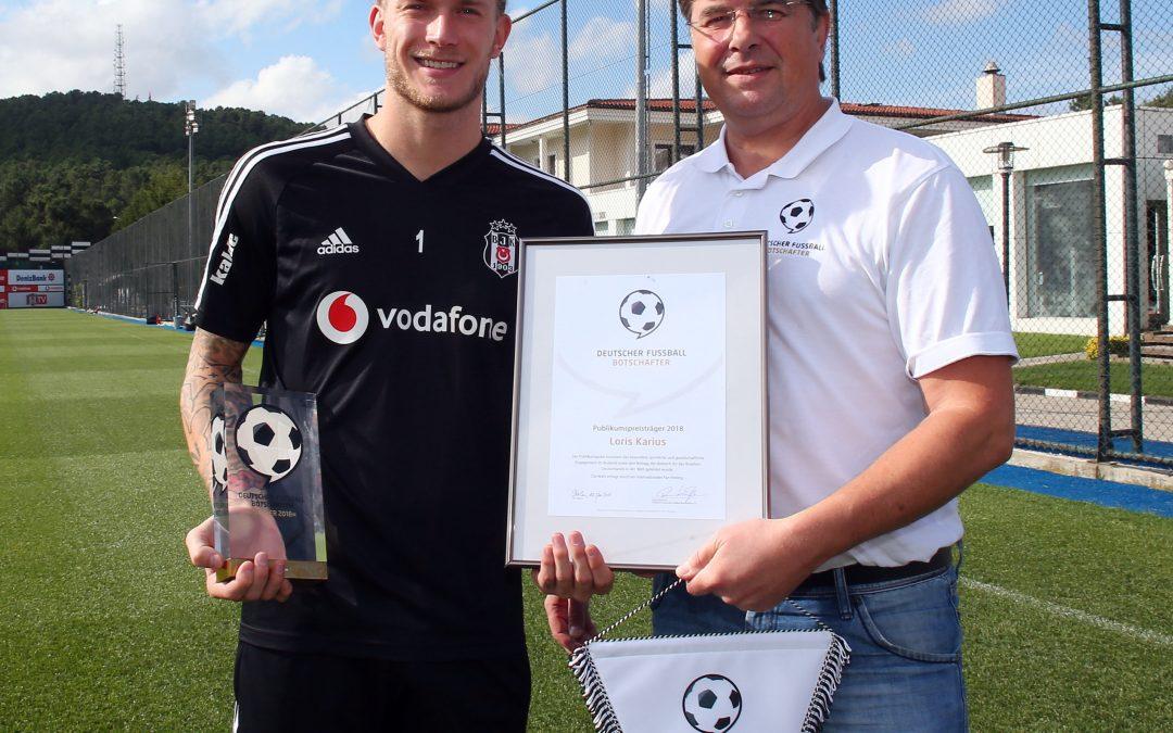 German Football Ambassador visits Public Award Winner 2018 Loris Karius